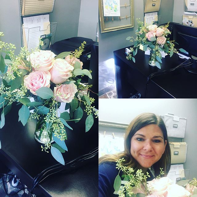 Check out this gorgeous bouquet that one of our awesome patients dropped off for us. She does wedding and event planning @triciafinnevents. Check her out she rocks!!!!