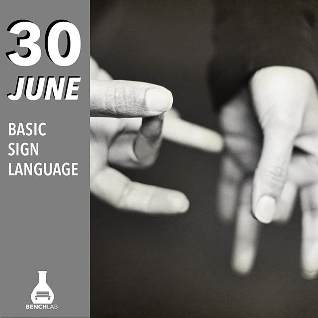 Approximately 30,000 Bruneians are experiencing hearing problems of varying stages. Learn the basic sign language for everyday use with Yan and discover the charms of an unspoken language! . . Can't wait to get #MadeInBenchLab? Book your seat today at www.benchlab.co by the deadline above. . . BenchLab — Where Curiosity Meets Skills 🧡