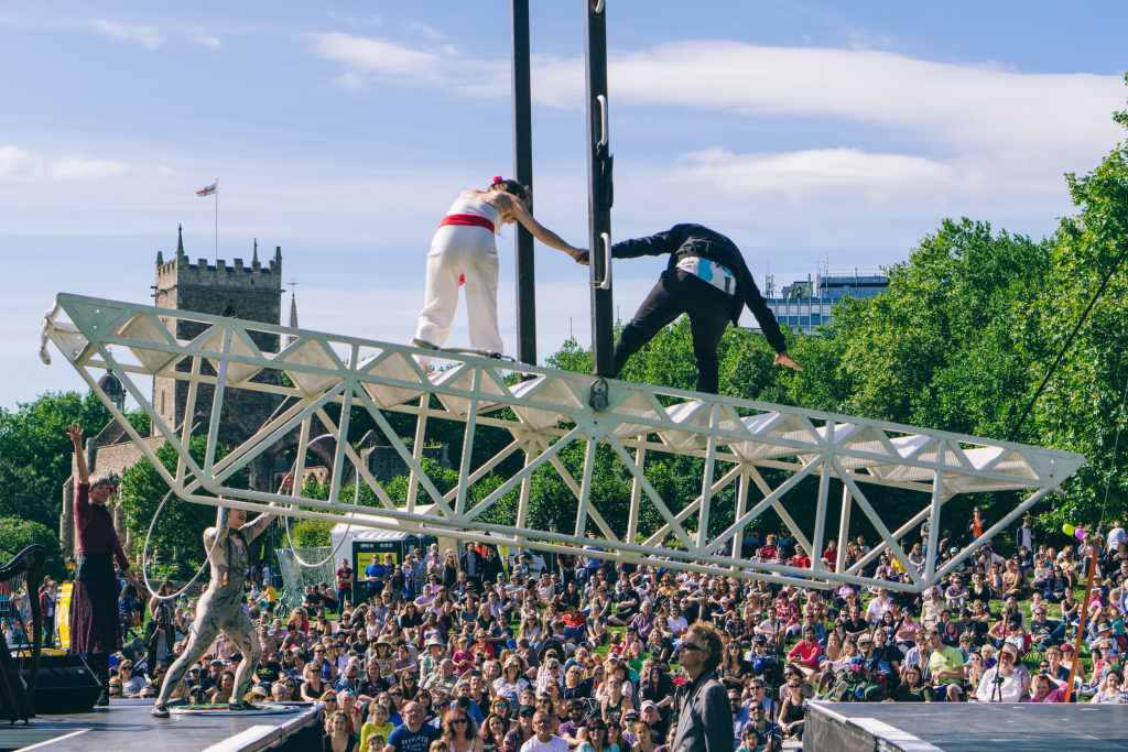 Weighting by Extraordinary Bodies at Doing Things Differently equality event.Bristol 2016. Credit: Joe Clarke
