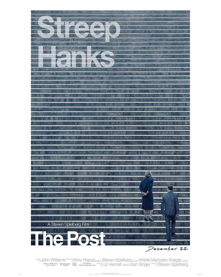 The Post (2017) - DIRECTED BY: STEVEN SPIELBERGSTARRING MERYL STREEP, TOM HANKS, BOB ODENKIRK, SARAH PAULSONRATING: PG-13 FOR LANGUAGE AND BRIEF WAR VIOLENCERUNNING TIME: 1 HOUR 54 MINTMM: 4 OUT OF 5 STARSSTRENGTHS: TIMELINESS, WRITING, DIRECTING, ACTING AND CINEMATOGRAPHYWEAKNESSES: PACING DURING THE FIRST ACT