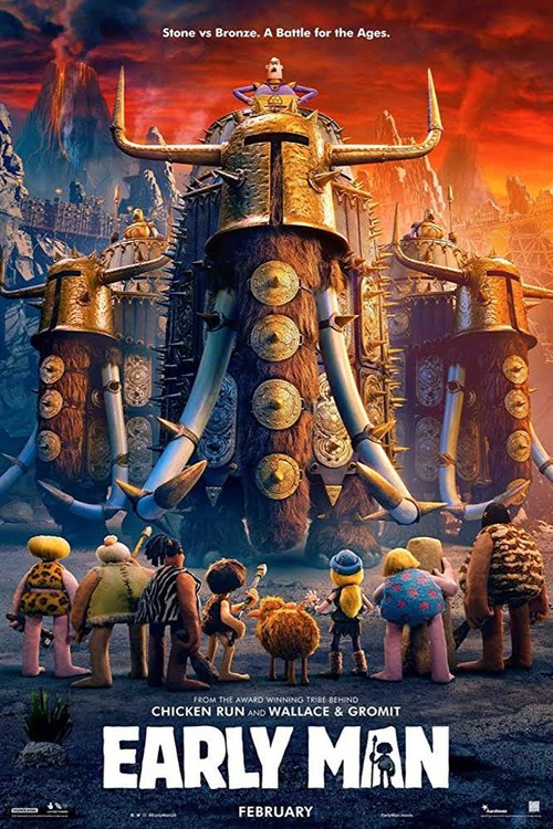 Early Man (2018) - Directed by: Nick ParkStarring: Eddie Redmayne, Tom Hiddleston, Maisie WilliamsRating: PG for Rude Humor and Some ActionRunning Time: 1 H 29 MTMM: 3 out of 5 StarsStrengths: Design, CharmWeaknesses: Predictability, Many Jokes Didn't Land