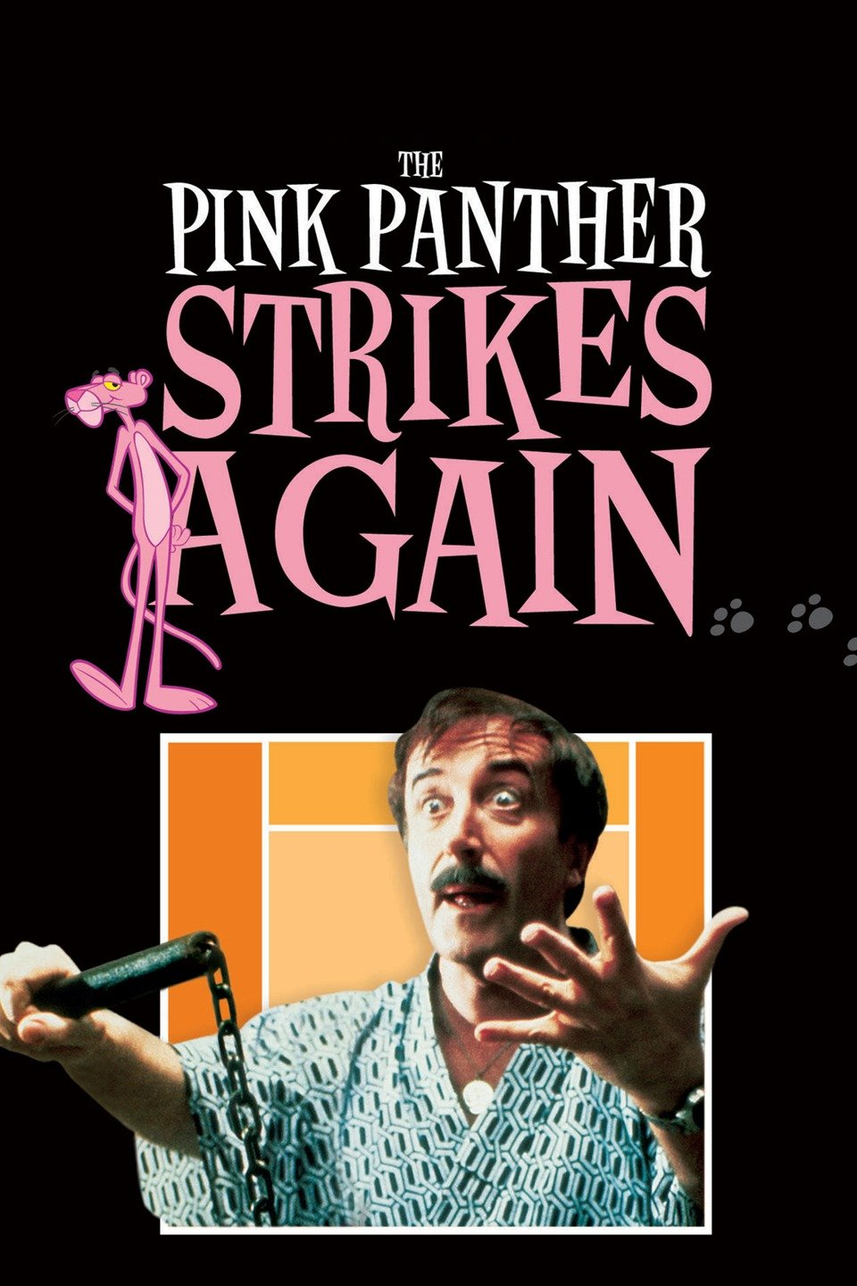 The Pink Panther Strikes Again (1976) - Directed by: Blake EdwardsStarring: Peter Sellers, Herbert Lom, Burt KwoukRated: Running Time: 1 h 43 mTMM Score: 4 stars out of 5STRENGTHS: Peter Sellers, Humor, PacingWEAKNESSES: Farfetched Premise