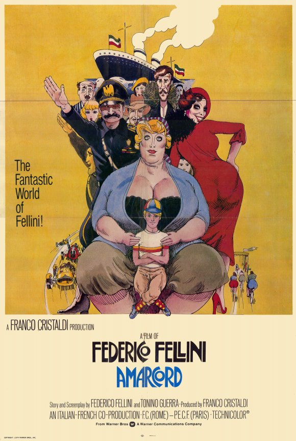 Amarcord (1973) - Directed by: Federico FelliniStarring: Magali Noel, Bruno Zanin, Pupella MaggioRated: RRunning Time: 2 h 3 mTMM Score: 4 stars out of 5STRENGTHS: Directing, Writing, NostalgiaWEAKNESSES: Pacing Towards the End