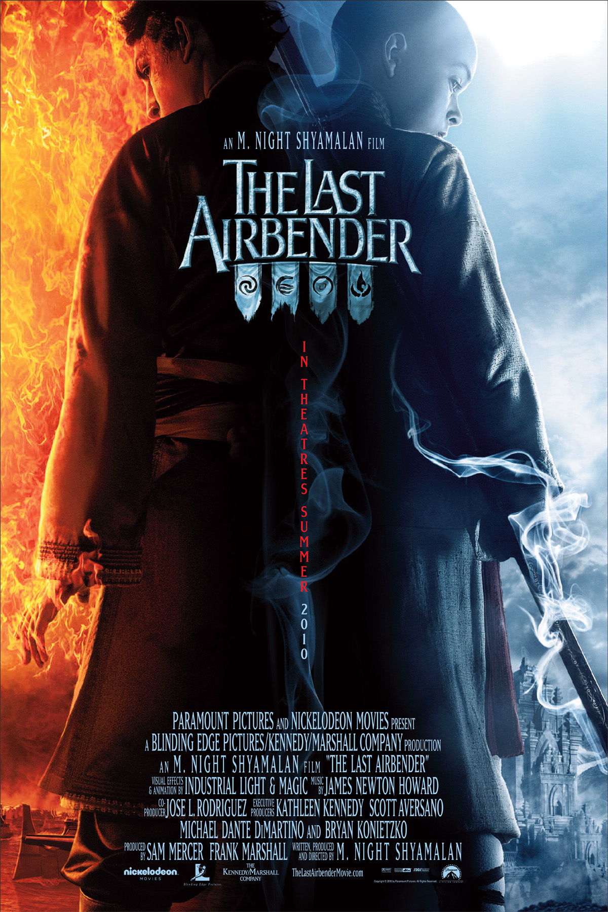 The Last Airbender (2010) - Directed by: M. Night ShyamalanStarring: Noah Ringer, Nicola Peltz, Jackson Rathbone, Dev Patel, Shaun Toub, Aasif Mandvi, Cliff CurtisRated: PGRunning Time: 1h 43mTMM Score: 1 stars out of 5STRENGTHS: It's Not As Long As You Might ExpectWEAKNESSES: It Fails At Everything It Attempts