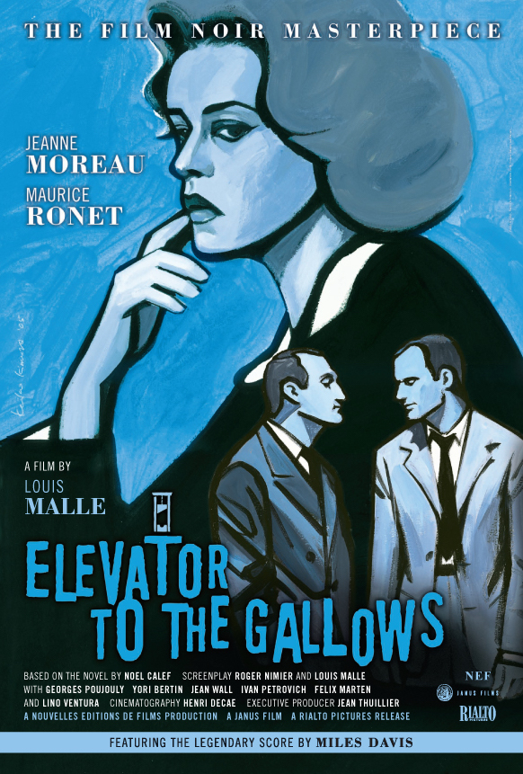 Elevator to the Gallows (1958) - Directed by: Louis MalleStarring: Jeanne Moreau, Maurice Ronet, Georges Poujouly, Yori BertinRated: NR (Suggested PG-13 for Some Violence and Thematic Material)Running Time: 1 h 31 mTMM Score: 4.5 stars out of 5STRENGTHS: Writing, Directing, Soundtrack, Always Raising StakesWEAKNESSES: Some Pacing/ Drawn Out Scenes