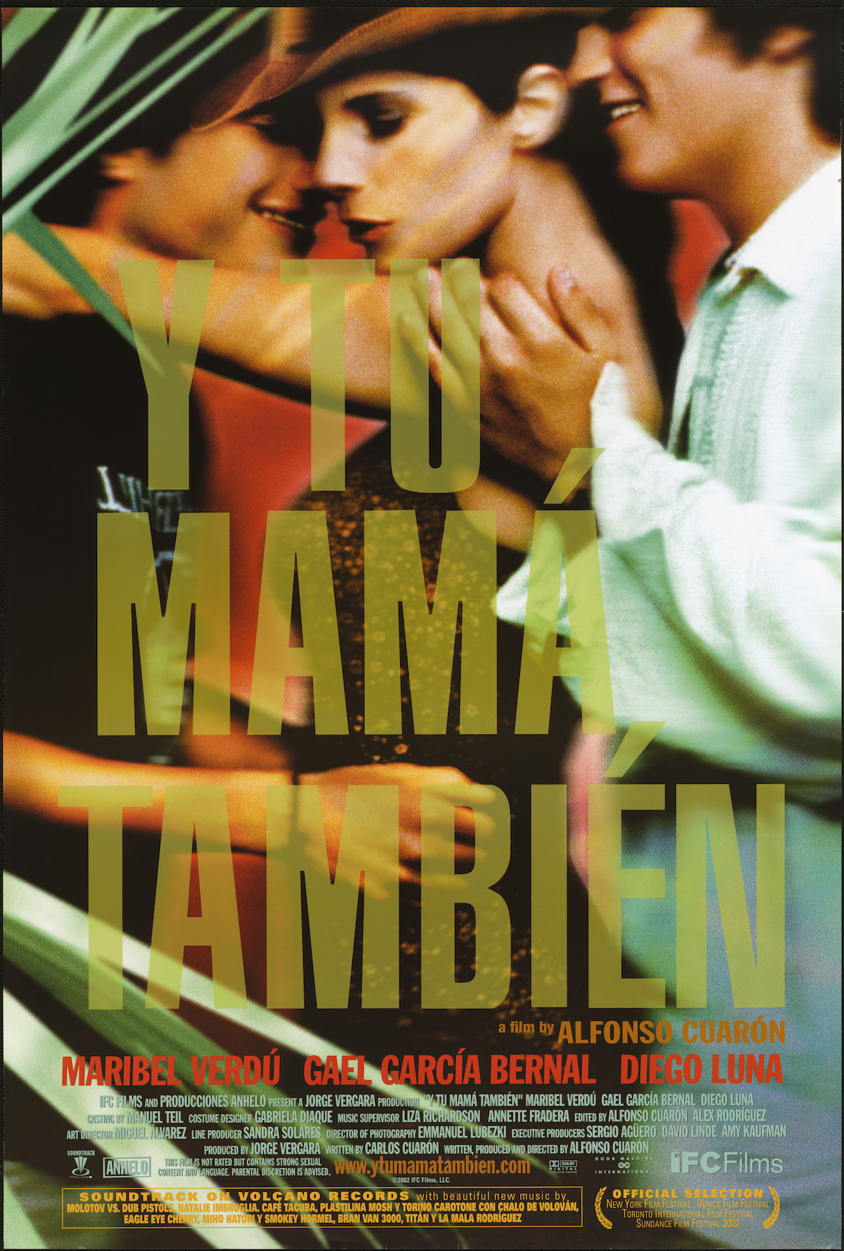 Y Tu Mama Tambien (2001) - Directed by: Alfonso CuaronStarring: Maribel Verdu, Gael Garcia Bernal, Diego LunaRated: R for Strong Sexual Content Involving Teens, Drug Use and LanguageRunning Time: 1 h 46 mTMM Score: 4.5 stars out of 5STRENGTHS: Writing, Acting, Cinematography, DirectingWEAKNESSES: Subject Matter Will Turn Away Some Viewers
