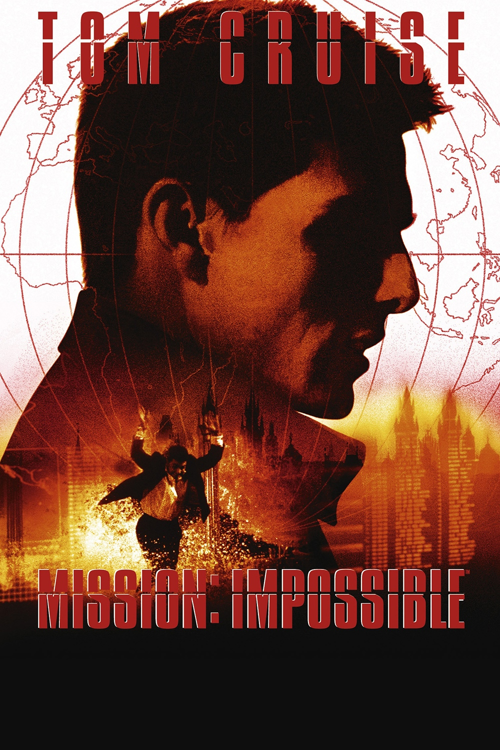 Mission: Impossible(1996) - Directed by: Brian De PalmaStarring: Tom Cruise, Jon Voight, Emmanuelle Beart, Henry CzernyRated: PG-13Running Time: 1h 50mTMM Score: 4 stars out of 5STRENGTHS: Directorial Vision, Atmosphere, Set PiecesWEAKNESSES: Feels Dated at Times, Is a Real Slam to Fans of The Show