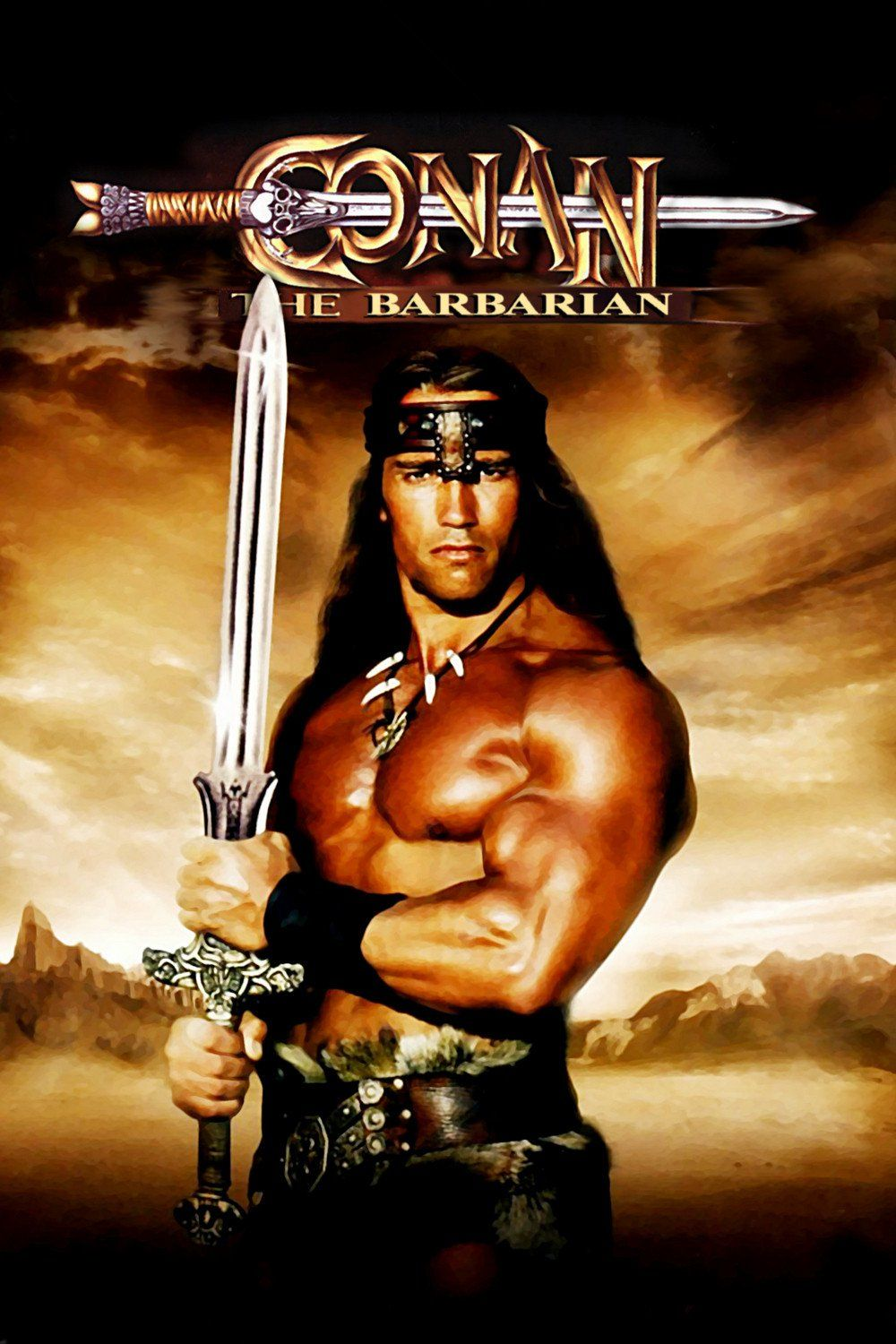 Conan the Barbarian (1982) - Directed by: John MiliusStarring: Arnold Schwarzenegger, James Earl Jones, Max von Sydow, Sandahl BergmanRated: RRunning Time: 2 h 9 mTMM Score: 2 stars out of 5STRENGTHS: Production Design, Some ActionWEAKNESSES: Acting, Writing, Story, Aged Poorly
