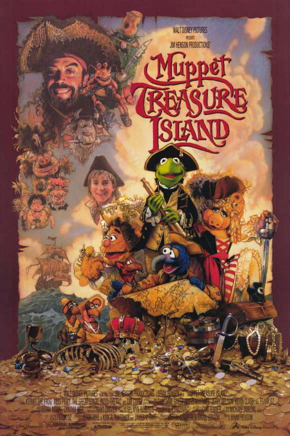 Muppet Treasure Island (1996) - Directed by: Brian HensonStarring: Tim Curry, Billy Connolly, Kevin BishopRated: GRunning Time: 1 h 39 mTMM Score: 4 stars out of 5STRENGTHS: Humor, Innocence, Fun, Music, StoryWEAKNESSES: Not As Tight As Other Muppet Movies