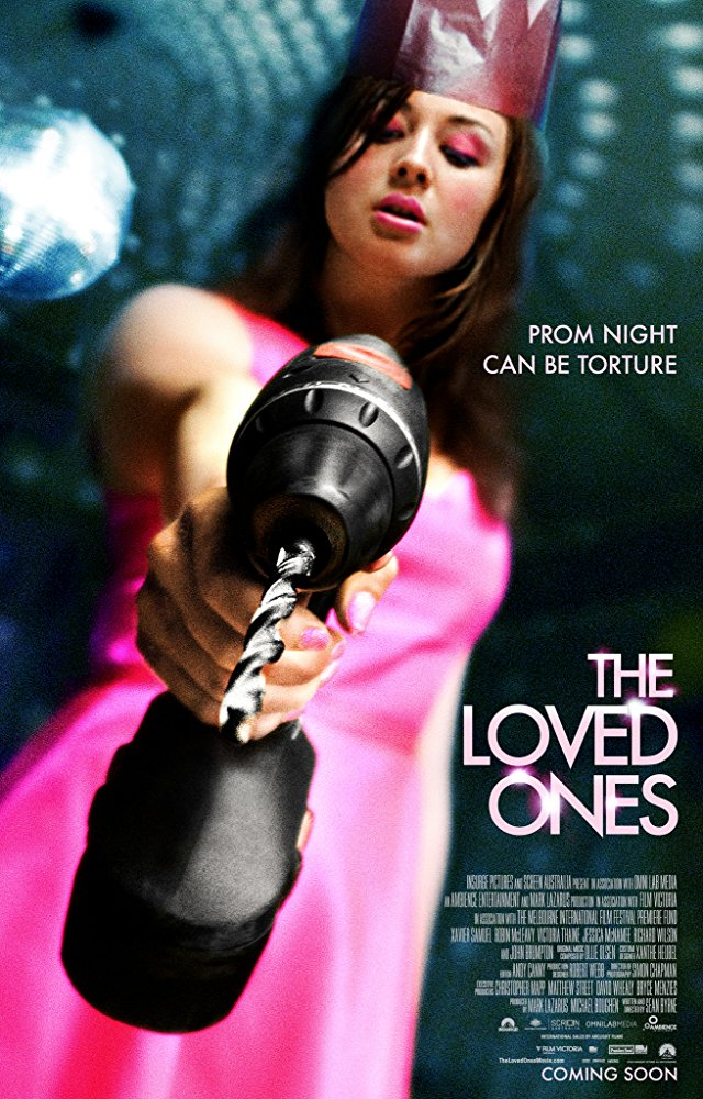 The Loved Ones (2009) - Directed by: Sean ByrneStarring: Xavier Samuel, Robin McLeavy, John BrumptonRated: R for Strong Bloody Violence and Torture, Sexuality, Some Language, Teen Drug and Alcohol Use.Running Time: 1 h 24 mTMM Score: 3.5 stars out of 5STRENGTHS: Writing, Directing, Acting By Leads, Continually Ups StakesWEAKNESSES: Some Acting By Secondary Characters