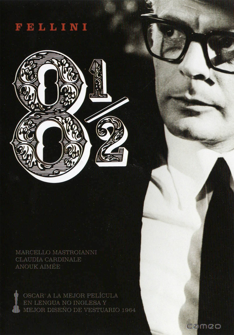 8 1/2 (1963) - Directed by: Federico FelliniStarring: Marcello Mastoianni, Anouk Aimee, Claudia CardinaleRated: NR (Suggested PG-13 for Some Sexual and Suggestive Material)Running Time: 2 h 18 mTMM Score: 5 stars out of 5STRENGTHS: Directing, Writing, Acting, Cinematography, Ingenuity, Set DesignWEAKNESSES: -