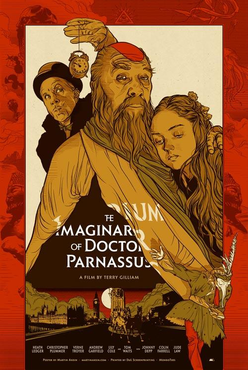 The Imaginarium of Doctor Parnassus (2009) - Directed by: Terry GilliamStarring: Christopher Plummer, Lily Cole, Heath Ledger, Colin Farrell, Johnny Depp, Jude Law, Andrew Garfield, Verne TroyerRated: PG13Running Time: 2h 3mTMM Score: 3 stars out of 5STRENGTHS: Acting, Story ConceptWEAKNESSES: Visual Effects, Uneven Story Structure