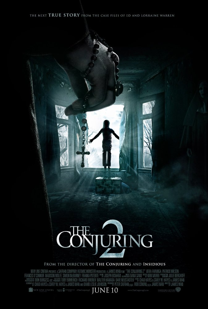 The Conjuring 2 (2016) - Directed by: James WanStarring: Vera Farmiga, Patrick Wilson, Madison Wolfe, Frances O'ConnorRated: R for Terror and Horror ViolenceRunning Time: 2 h 14 mTMM Score: 3.5 stars out of 5STRENGTHS: Acting, Atmosphere, ThemesWEAKNESSES: Lack of Subtlety, The Crooked Man