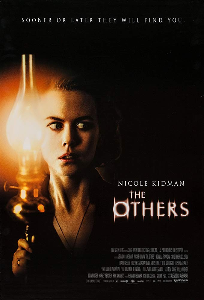 The Others (2001) - Directed by: Alejandro AmenabarStarring: Nicole Kidman, Fionnula Flanagan, Christopher Eccleston, Alakina Mann, James BentleyRated: PG-13 for Thematic Material and Frightening MomentsRunning Time: 1 h 45 mTMM Score: 4.5 stars out of 5STRENGTHS: Writing, Acting, Directing, Atmosphere, CinematographyWEAKNESSES: -