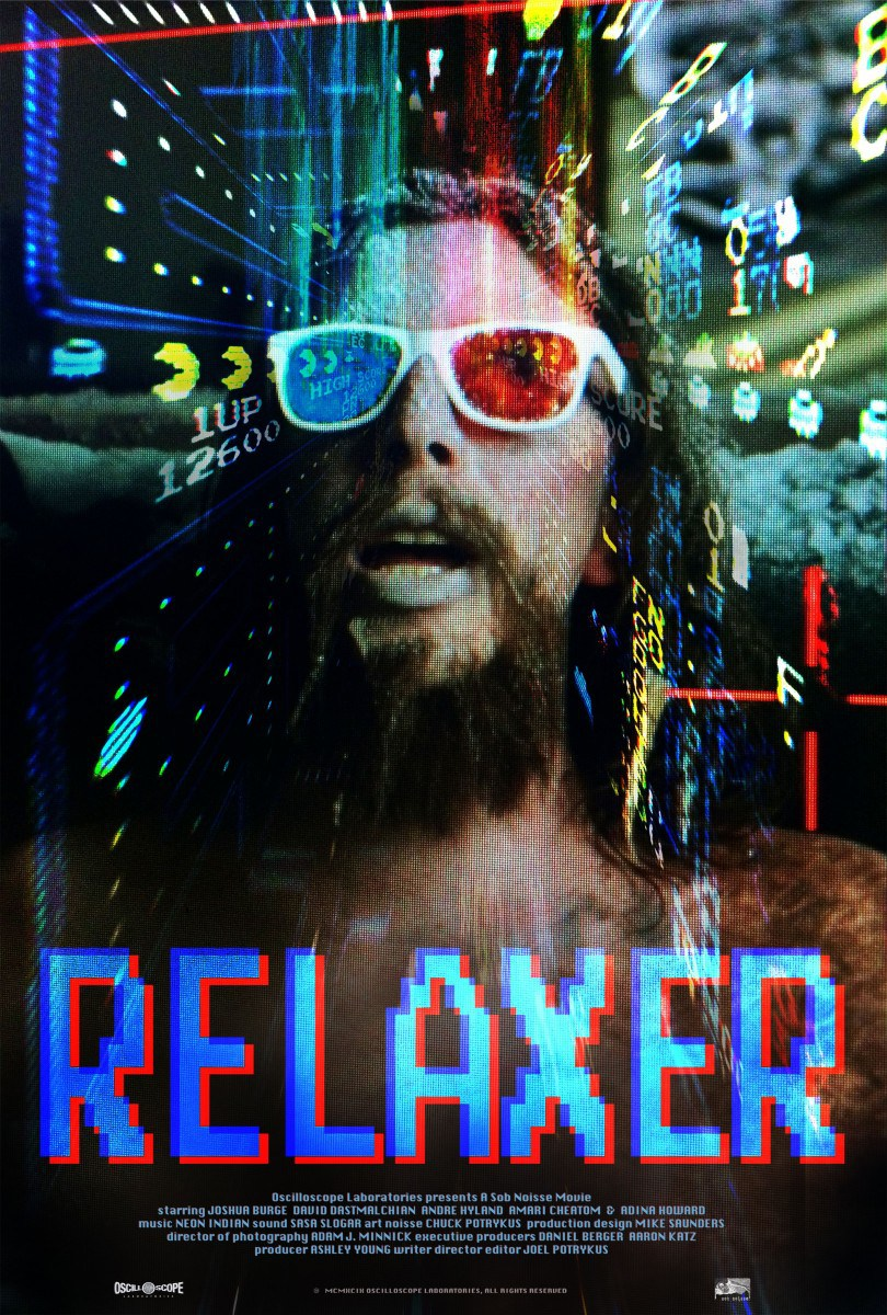 Relaxer (2018) - Directed by: Joel PotrykusStarring: Joshua Burge, David Dastmalchian, Andre HylandRated: NRRunning Time: 1h 31mTMM Score: 4 StarsSTRENGTHS: Storytelling Style, Compelling Performances, Bold Camera WorkWEAKNESSES: A Slight Pacing Drag in the Middle.