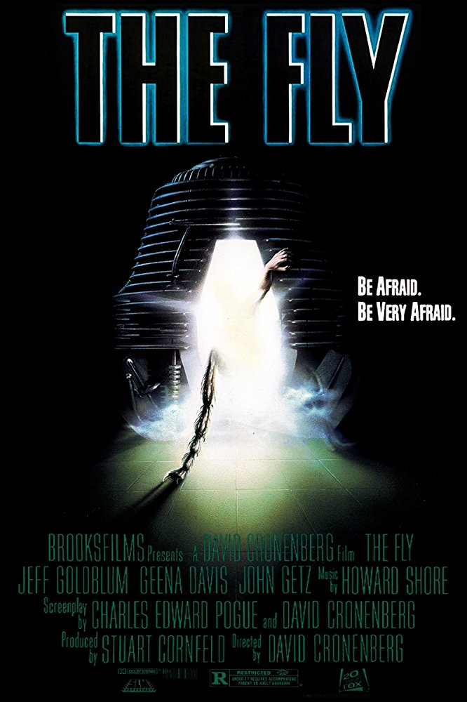 The Fly (1986) - Directed by: David CronenbergStarring: Jeff Goldblum, Geena Davis, John GetzRated: RRunning Time: 1 h 36 mTMM Score: 4.5 stars out of 5STRENGTHS: Writing, Practical Effects, Makeup, StoryWEAKNESSES: Content Will Deter Some Viewers