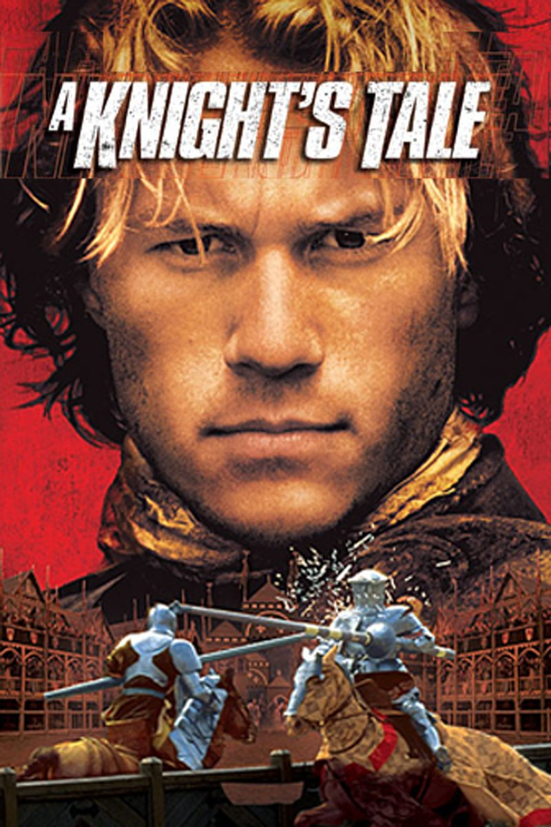 A Knight's Tale (2001) - Directed by: Brian HelgelandStarring: Heath Ledger, Paul Bettany, Rufus Sewell, Shannyn Sossamon, Mark Addy, Alan Tudyk, James PurefoyRated: PG-13 for Action Violence, Some Nudity and Brief Sex-Related DialogueRunning Time: 2 h 12 mTMM Score: 3.5 stars out of 5STRENGTHS: Story, Fun, Writing, CharactersWEAKNESSES: 2000s Version of Cool, Nike Product Placement, Rock Music Soundtrack Doesn't Always Work