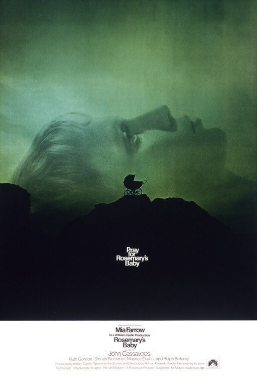 Rosemary's Baby (1968) - Directed by: Roman PolanskiStarring: Mia Farrow, John Cassavetes, Ruth Gordon, Sidney BlackmerRated: RRunning Time: 2 h 17 mTMM Score: 5 stars out of 5STRENGTHS: Writing, Directing, Subtlety, ActingWEAKNESSES: -