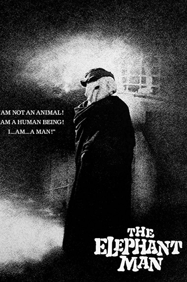 The Elephant Man (1980) - Directed by: David LynchStarring: John Hurt, Anthony Hopkins, Anne BancroftRated: RRunning Time: 2h 4mTMM Score: 5 StarsSTRENGTHS: Make Up, Acting, OtherworldlinessWEAKNESSES: None