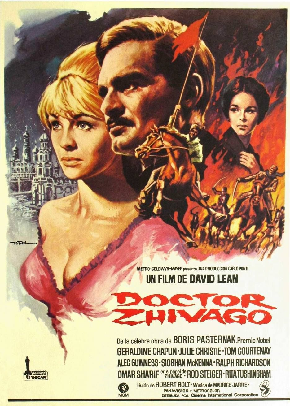 Doctor Zhivago (1965) - Directed by: David LeanStarring: Omar Sharif, Julie Christie, Geraldine ChaplinRated: PG-13Running Time: 3h 17mTMM Score: 3 StarsSTRENGTHS: ProductionWEAKNESSES: Personal Connection