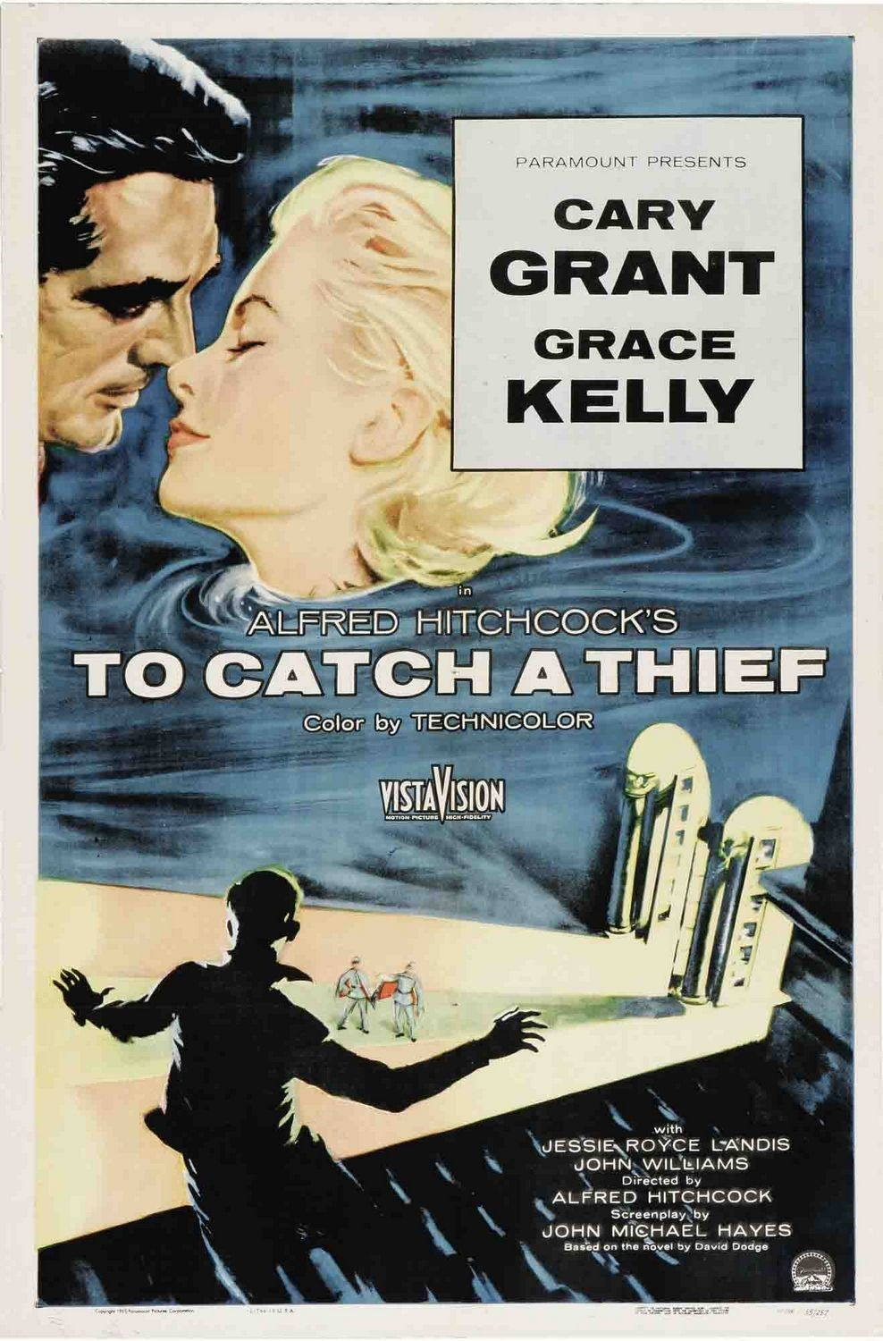 To Catch A Thief (1955) - Directed by: Alfred HitchcockStarring: Cary Grant, Grace Kelly, Jessie Royce LandisRated: PGRunning Time: 1h 46mTMM Score: 2 Stars (didn't like it)STRENGTHS: ProductionWEAKNESSES: Lack of Suspense