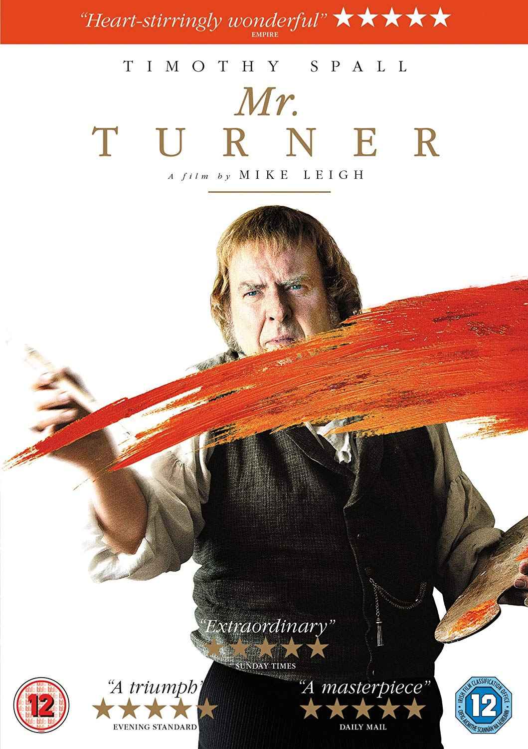 Mr. Turner (2014) - Directed by: Mike LeighStarring: Timothy Spall, Paul Jesson, Dorothy AtkinsonRated: R for Some Sexual ContentRunning Time: 2 h 30 mTMM Score: 3.5 stars out of 5STRENGTHS: Attention to Detail, Acting, Writing, Directing, CinematographyWEAKNESSES: Pacing, Length