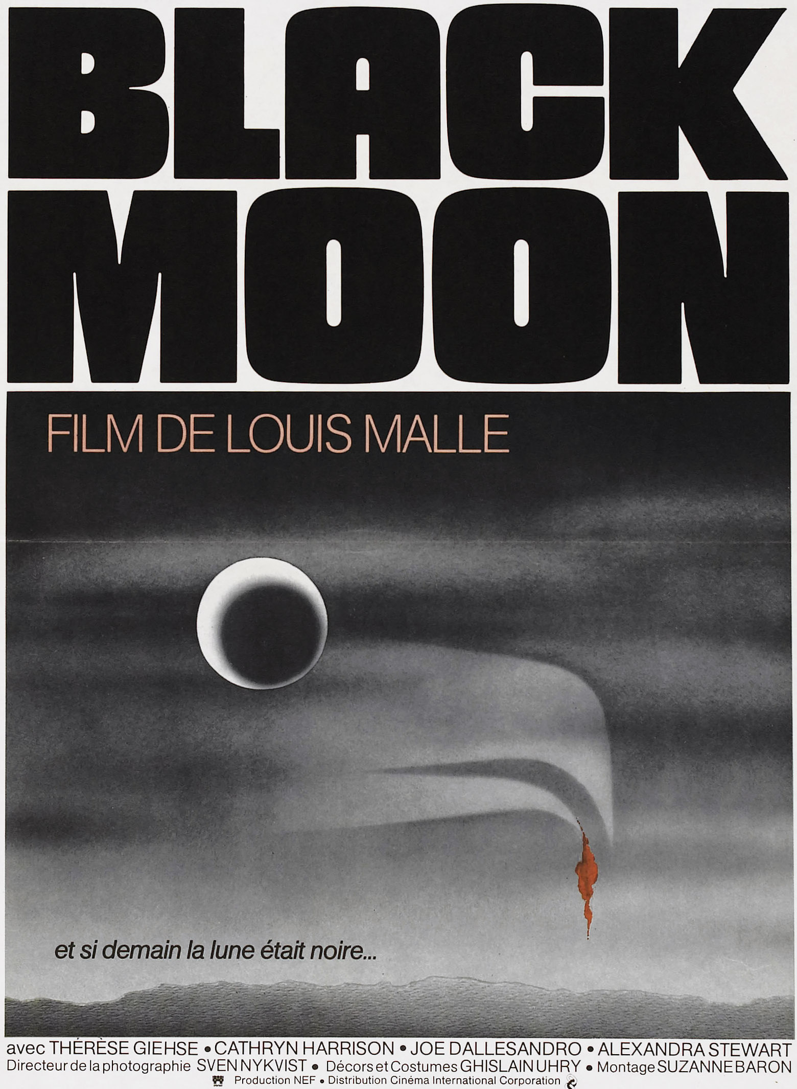 Black Moon (1975) - Directed by: Luis MalleStarring: Cathryn Harrison, Theresa Giehse, Alexandra StewartRated: RRunning Time: 1h 35mTMM Score: 2 StarsSTRENGTHS: Strong Opening, Cinematography, MysteryWEAKNESSES: Opaque and Boring