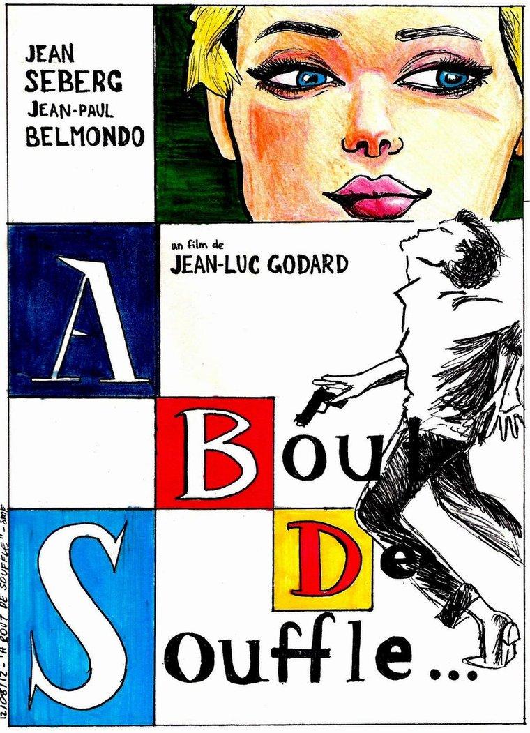 Breathless (1960) - Directed by: Jean-Luc GodardStarring: Jean Paul Belmondo, Jean Seberg, Daniel BoulangerRated: NRRunning Time: 1h 30mTMM Score: 3 StarsSTRENGTHS: Legacy, Cinematography, EditingWEAKNESSES: Story and Characters