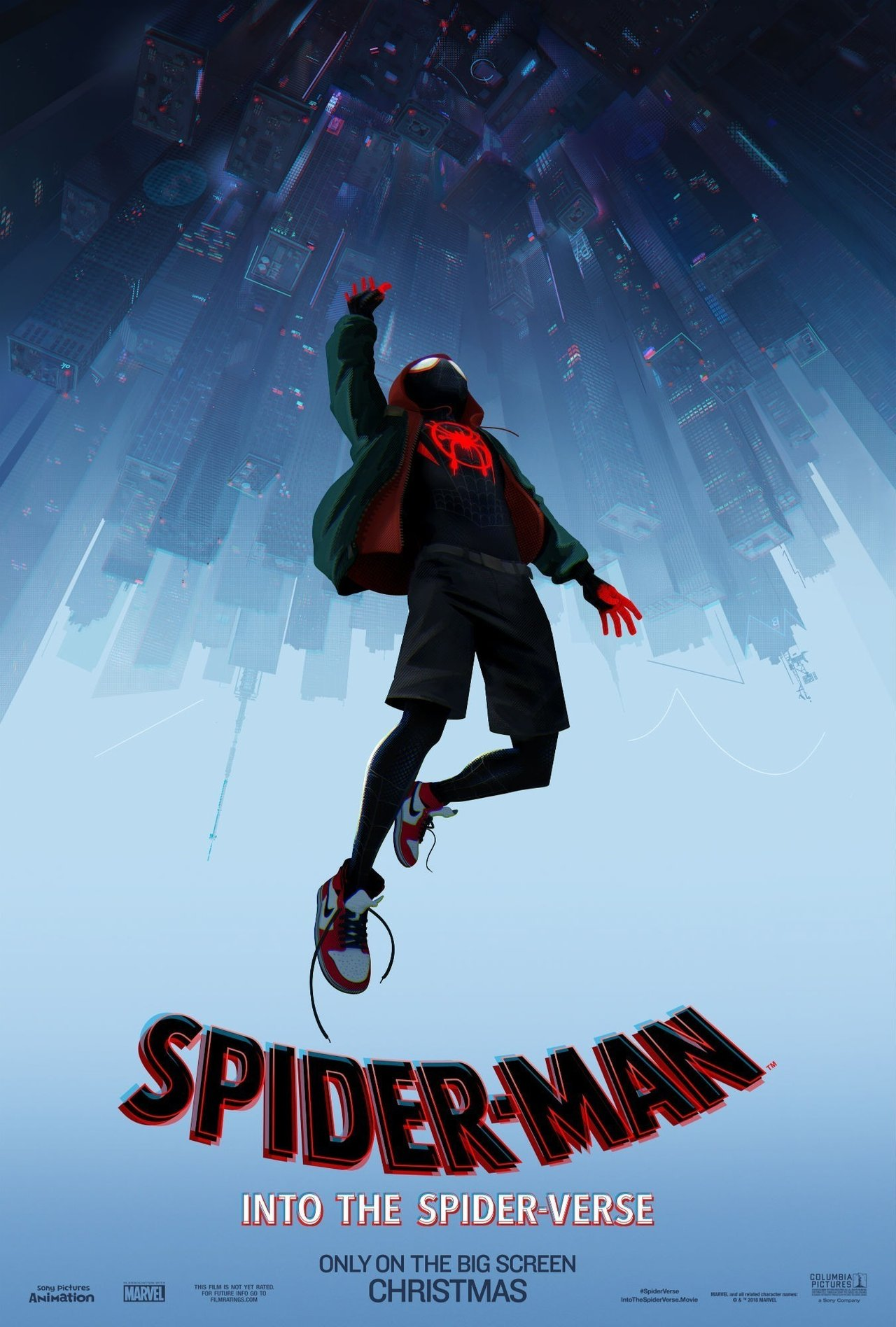 Spider-Man: Into The Spider-Verse (2018) - Directed by: Bob Persichetti, Peter Ramsey, Rodney RothmanStarring: Shameik Moore, Jake Johnson, Hailee Steinfeld, Mahershala Ali, Brian Tyree Henry, Lily Tomlin, Zoe Kravitz, John Mulaney, Nicolas Cage, Liv Schreiber, Chris PineRated: PG for Frenetic Sequences of Animated Action Violence, Thematic Elements, and Mild LanguageRunning Time: 1 h 57 mTMM Score: 5 stars out of 5STRENGTHS: Animation, Story, Meta-Writing, Crazy Freaking VisualsWEAKNESSES: -
