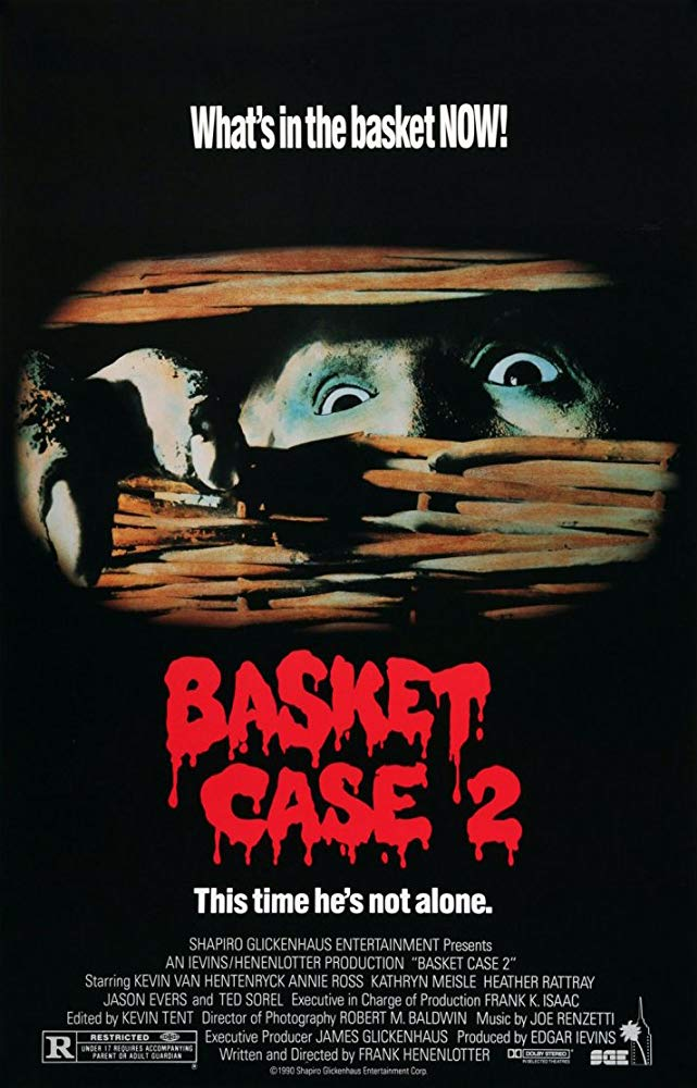 Basket Case II (1990) - Directed by: Frank HenenlotterStarring: Kevin Van Hentenryck, Judy Grafe, Annie RossRated: RRunning Time: 1 h 30 mTMM Score: 2.5 stars out of 5STRENGTHS: Creature Design, Bizarre TurnsWEAKNESSES: Different Tone Than The First