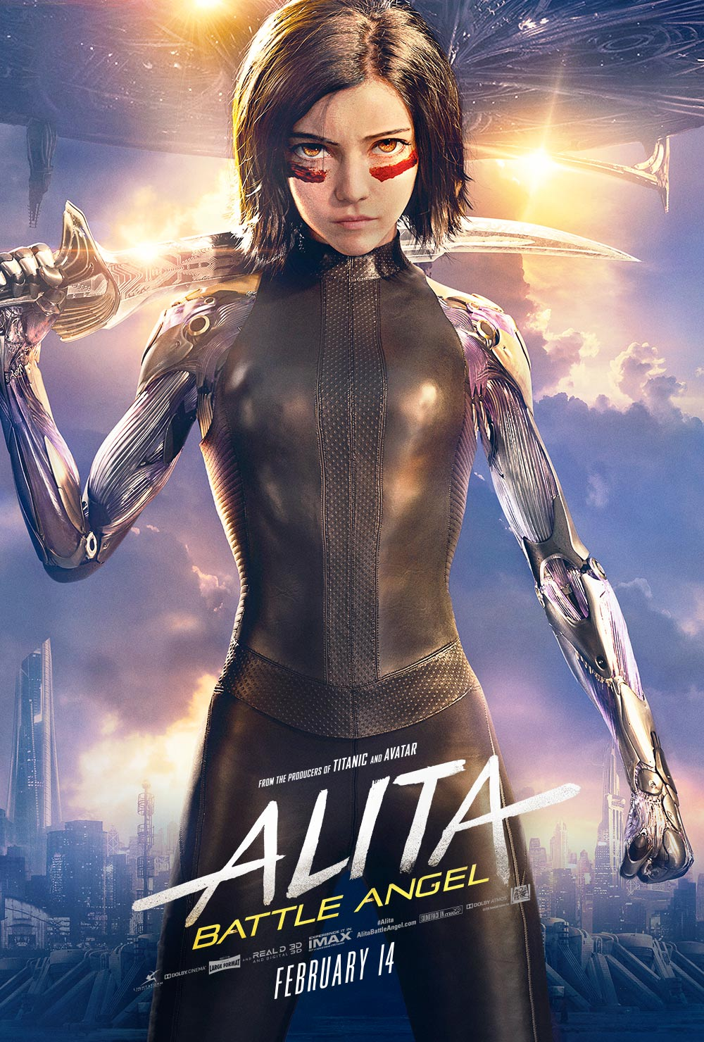 Alita: Battle Angel (2019) - Directed by: Robert RodriguezStarring: Rosa Salazar, Christoph Waltz, Jennifer Connelly, Mahershala Ali, Ed Skrein, Jackie Earle Haley, Keenan Johnson, Lana Condor, Eiza Gonzalez, Edward NortonRated: PG-13Running Time: 2 h 2 mTMM Score: 4 stars out of 5STRENGTHS: Overall Story, World Building, Production Design, Acting, Soundtrack, Action, Faithfulness to Material, Rosa SalazarWEAKNESSES: Cheesy Dialogue Doesn't Always Translate Well To Screen, Storyline Feels A Bit Jumbled, Keenan Johnson, Lots of Exposition