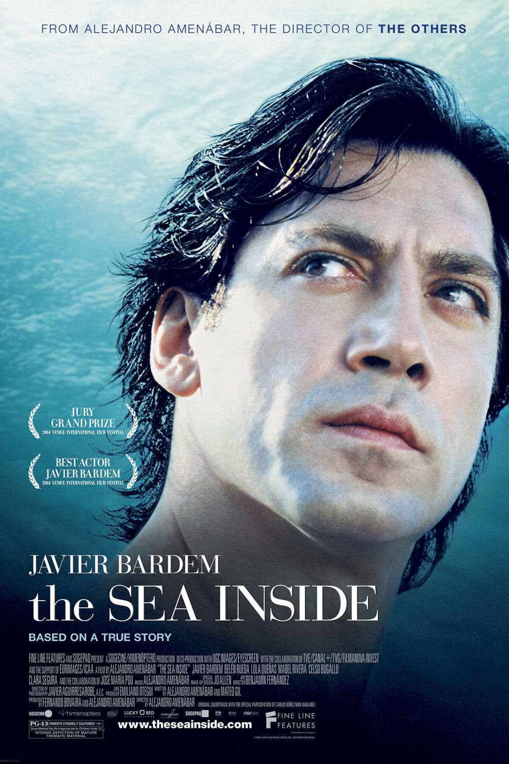 The Sea Inside (2004) - Directed by: Alejandro AmenabarStarring: Javier Bardem, Belén Rueda, Lola DueñasRated: PG-13Running Time: 2h 5mTMM Score: 4 StarsSTRENGTHS: Themes and ActingWEAKNESSES: None