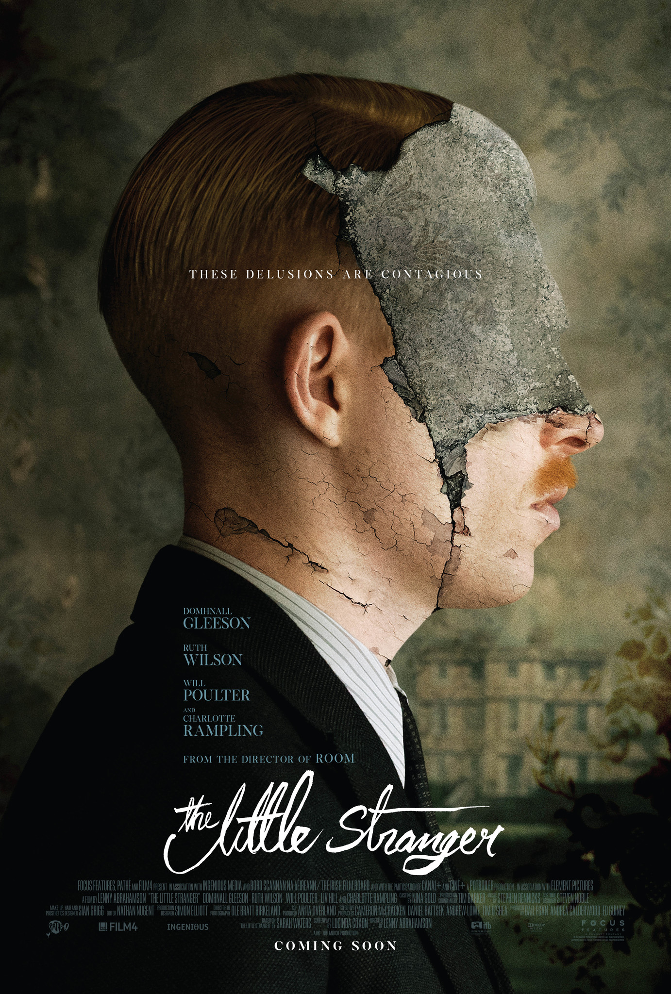 The Little Stranger (2018) - Directed by: Lenny AbrahamsonStarring: Domhnall Gleeson, Ruth Wilson, Will Poulter, Charlotte RamplingRated: R for Some Disturbing Bloody ImagesRunning Time: 1 h 51 mTMM Score: 3 stars out of 5STRENGTHS: Some Acting, Some Directing, TwistWEAKNESSES: Pacing, Uneven Writing, Some Acting, How Twist Was Handled