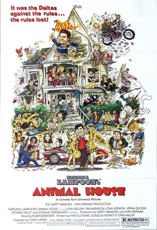 Animal House (1978) - Directed By: John LandisStarring: John Belushi, Stephen Furst, Karen Allen, Mark Metcalf, Donald SutherlandRated: RRun Time: 1h 49mTMM Score: 4 StarsStrengths: PerformancesWeakness: Taste in Humor Has Changed