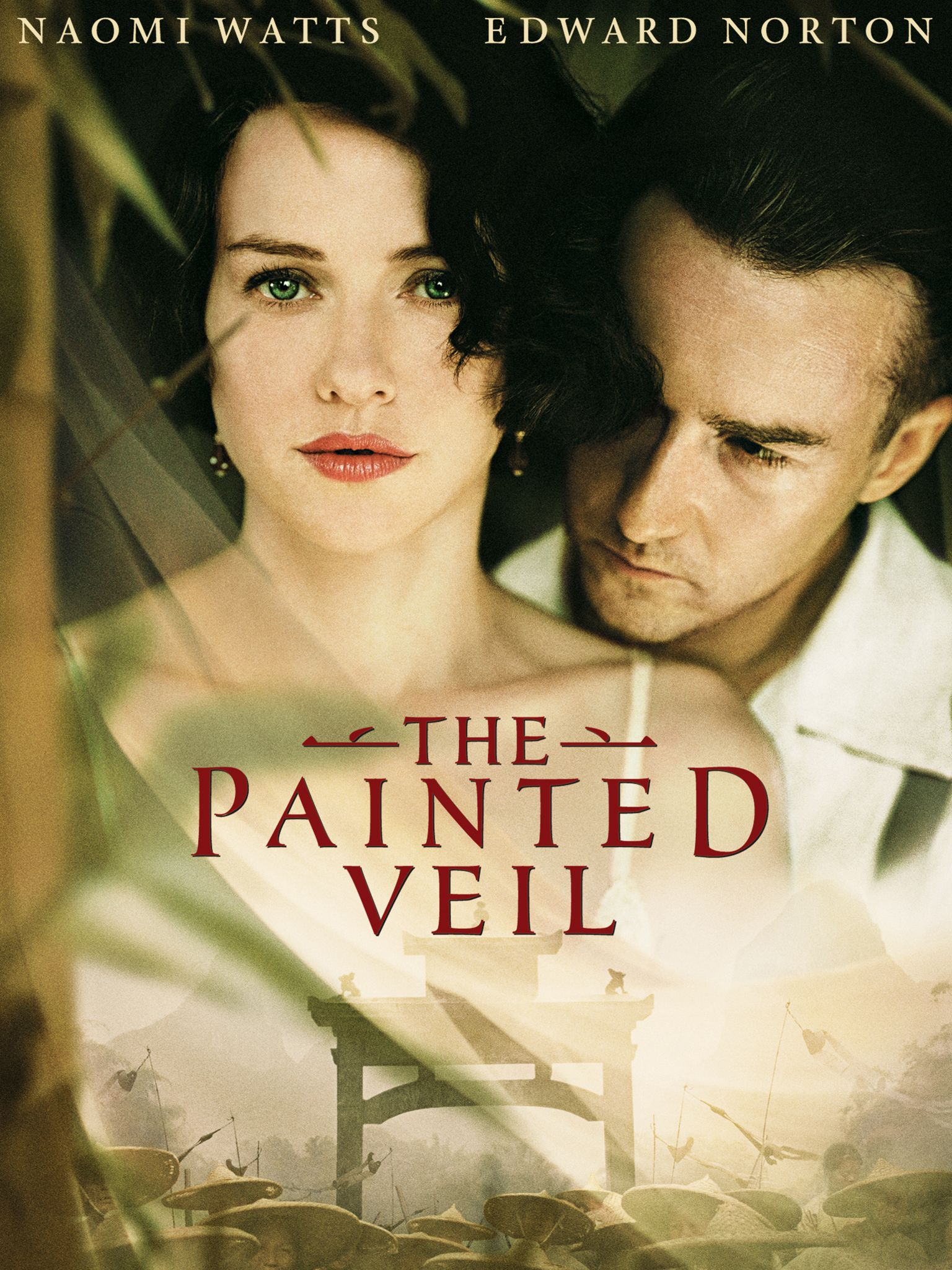 The Painted Veil (2006) - Directed by: John CurranStarring: Naomi Watts, Edward Norton, Liev Schreiber, Toby JonesRated: PG-13 for Some Mature Sexual Situations, Partial Nudity, Disturbing Images and Brief Drug ContentRunning Time: 2 h 5 mTMM Score: 3.5 stars out of 5STRENGTHS: Acting, Locations, Soundtrack, WritingWEAKNESSES: Melodramatic Moments, Somewhat Predictable, Low-Key White Savior Complex