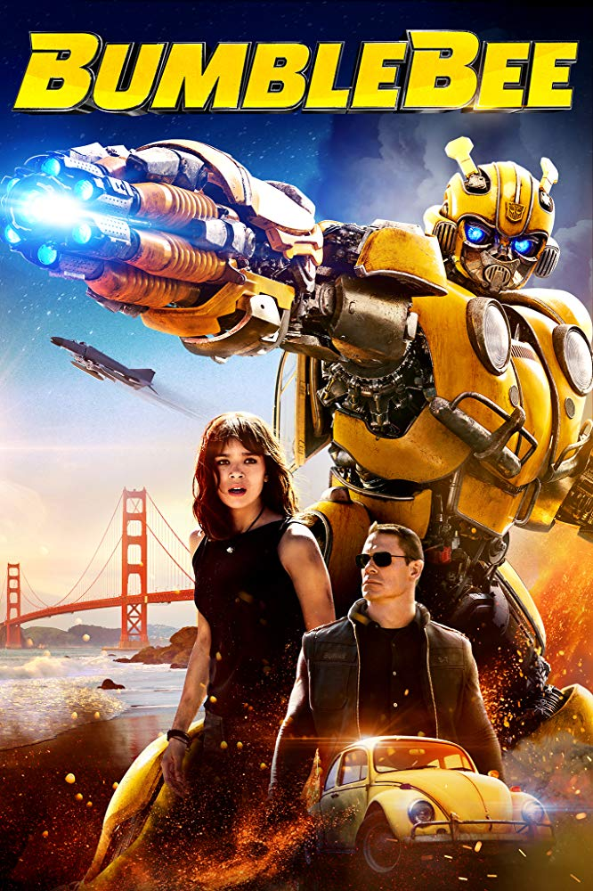 Bumblebee (2018) - Directed by: Travis KnightStarring: Hailee Steinfeld, John Cena, Jorge Lendeborg Jr.Rated: PG-13 for Sequences of Sci-Fi Action ViolenceRunning Time: 1 h 54 mTMM Score: 3.5 stars out of 5STRENGTHS: Simplicity, Humor, Hailee Steinfeld, Lack of Michael BayWEAKNESSES: Some Dialogue, Predictable
