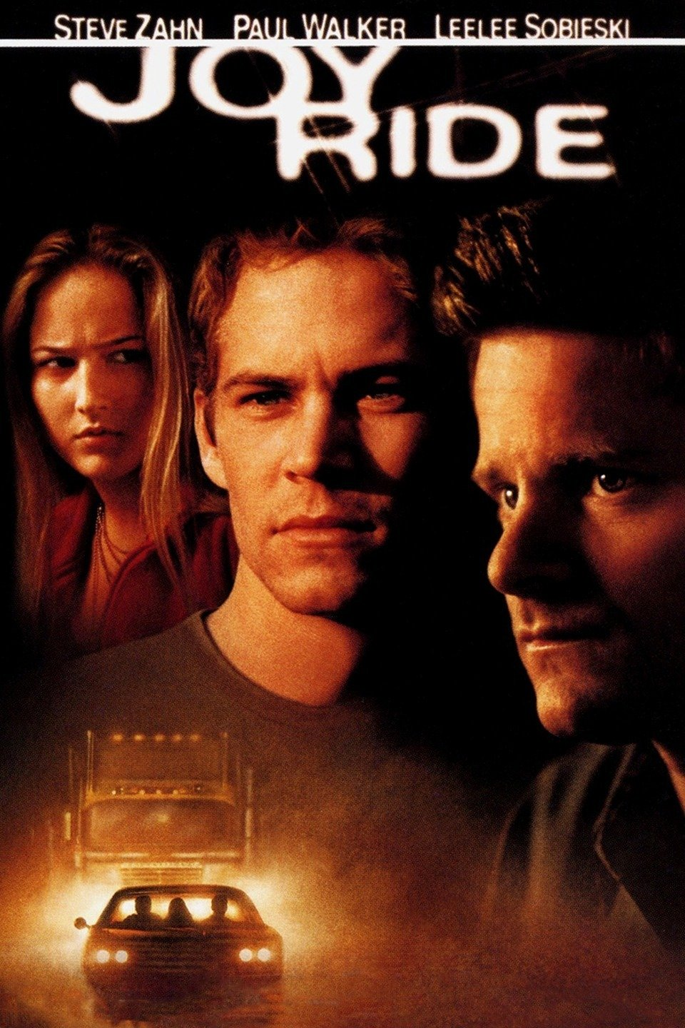 Joy Ride (2001) - Directed by: John DahlStarring: Steve Zahn, Paul Walker, Leelee Sobieski, Jessica BowmanRated: R for Violence/Terror and LanguageRunning Time: 1 h 37 mTMM Score: 3.5 stars out of 5STRENGTHS: Writing, Acting, ToneWEAKNESSES: Predictable