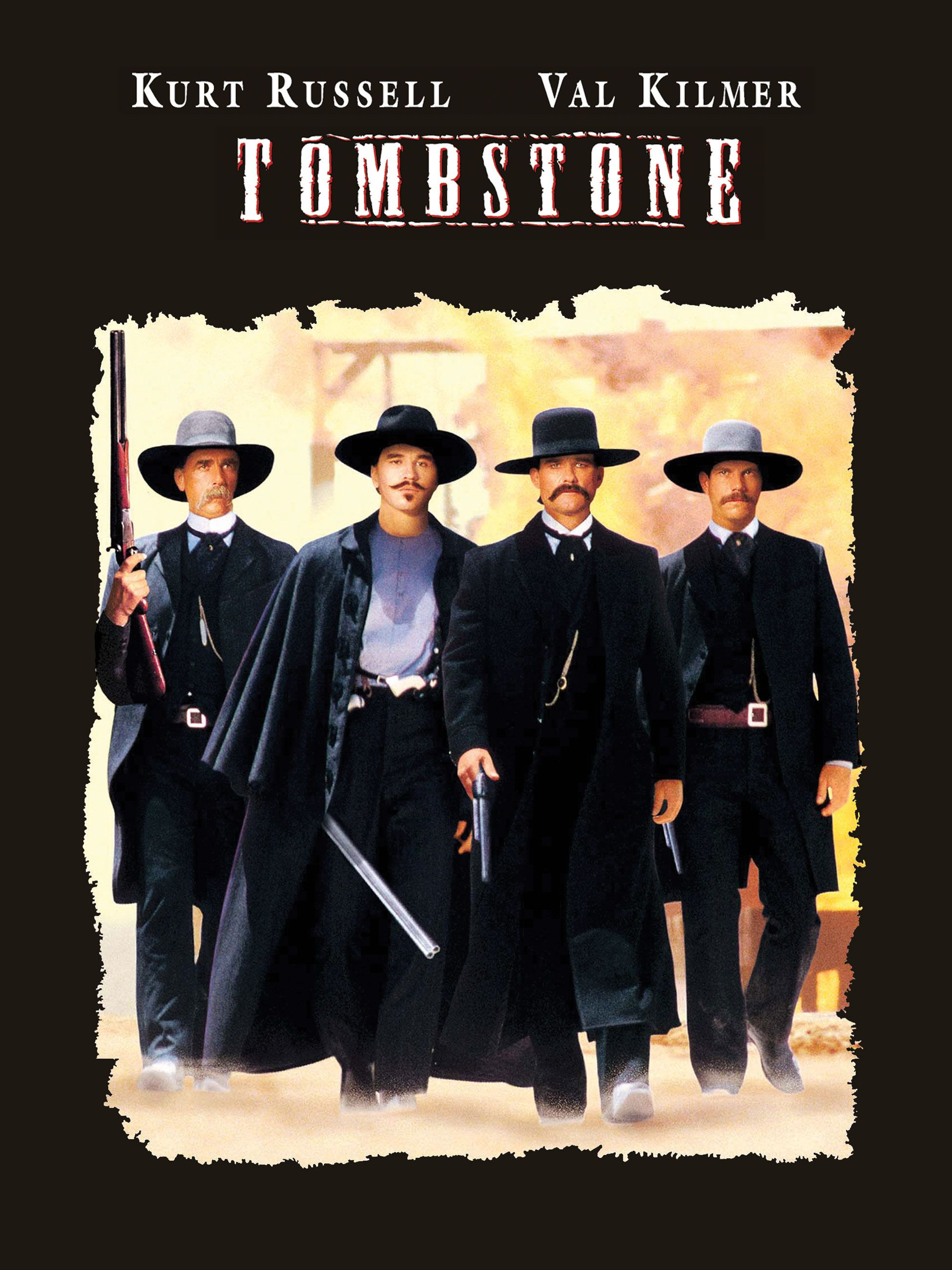 Tombstone (1993) - Directed by: George P. CosmatosStarring: Kurt Russell, Val Kilmer, Bill Paxton, Sam ElliotRated: R for ViolenceRunning Time: 2h 15mTMM Score: 4 StarsSTRENGTHS: Acting, Setting, Action, Val KilmerWEAKNESSES: Bloated Runtime, Thin Story, Weak Villains
