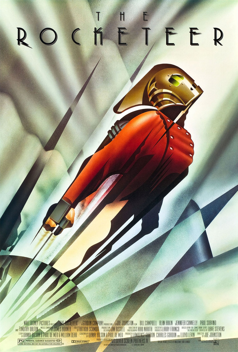 The Rocketeer (1991) - Directed by: Joe JohnstonStarring: Billy Campbell, Jennifer Connelly, Alan Arkin,Timothy Dalton, Paul Sorvino, Terry O'QuinnRated: PGRunning Time: 1 h 48 mTMM Score: 3.5 stars out of 5STRENGTHS: Nostalgic Tone, Story, Some Acting, EndingWEAKNESSES: Billy Campbell