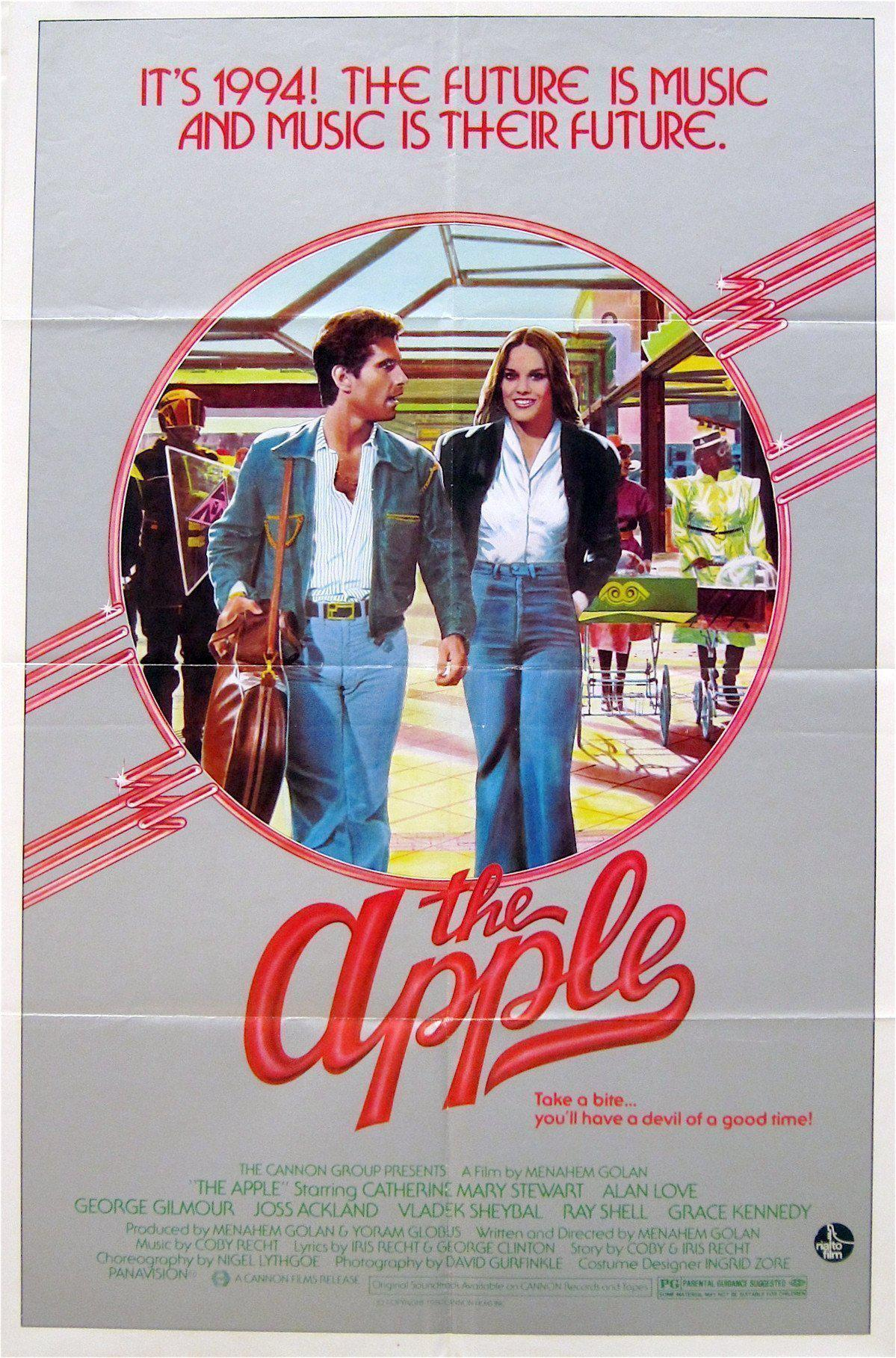 The Apple (1980) - Directed By: Menahem GolanStarring: Catherine Mary Stewart, Geourge Gilmour, Grace KennedyRated: PGRun Time: 1h 30mTMM Score: 3 StarsStrengths: Campy, Weird, and Just How Poorly Done It IsWeakness: Everything