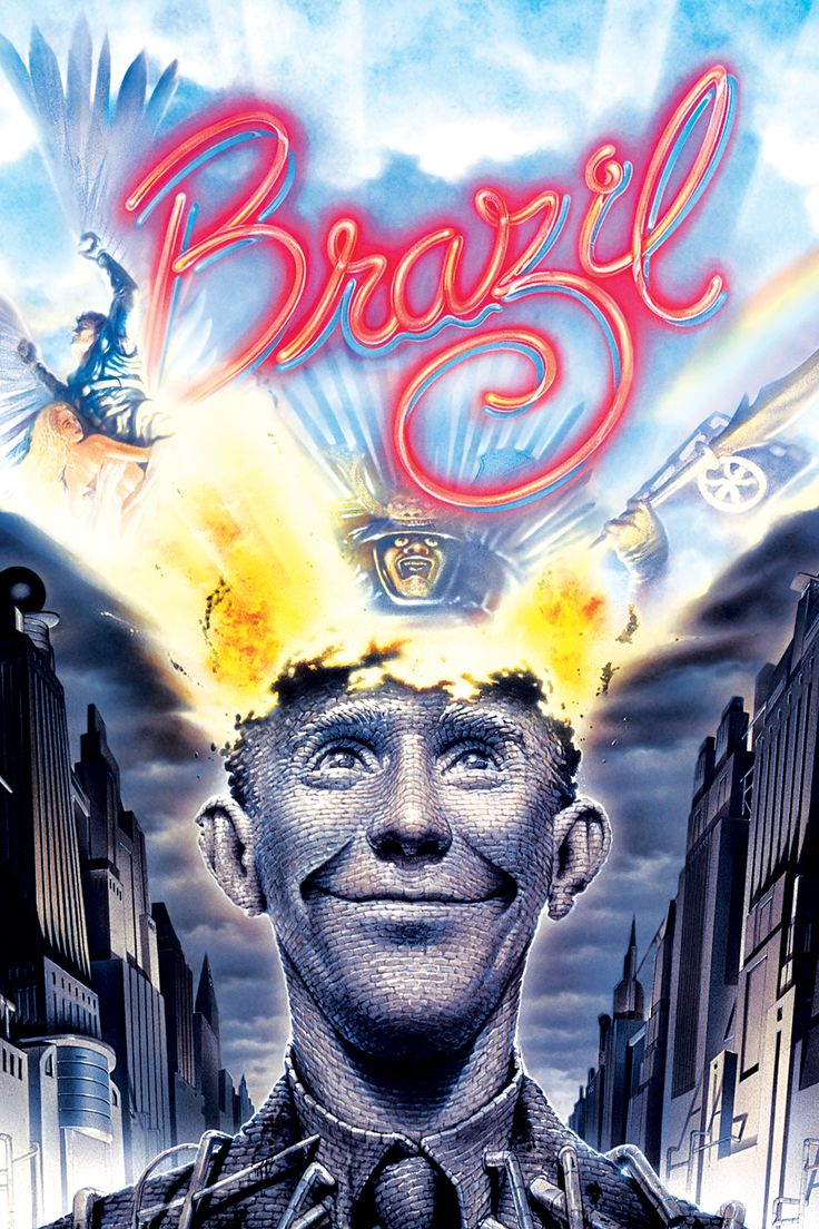 Brazil (1985) - Directed by: Terry GilliamStarring: Jonathan Pryce, Kim Greist, Ian Holm, Robert De Niro, Michael Palin, Jim BroadbentRated: R for Some Strong ViolenceRunning Time: h mTMM Score: stars out of 5STRENGTHS: Foresight, Writing, Directing, Production Design, ActingWEAKNESSES: -