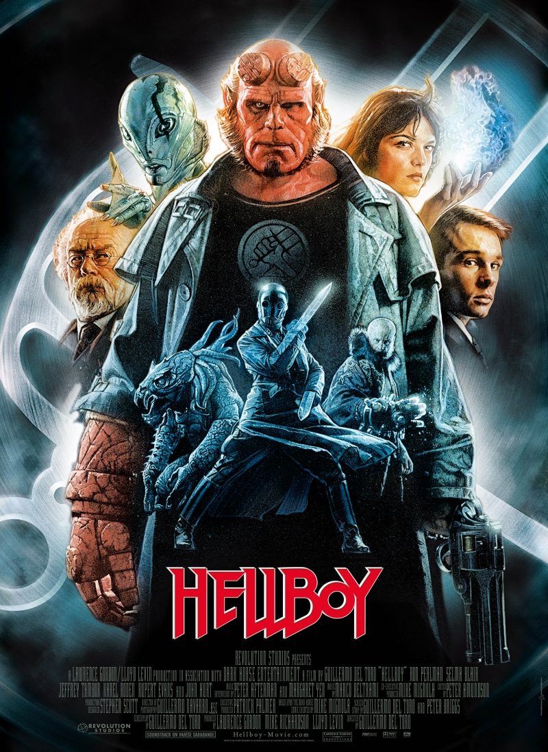 Hellboy (2004) - Directed by: Guillermo Del ToroStarring: Ron Perlman, Doug Jones, Selma Blair, John Hurt, Jeffrey Tambor, Karel RodenRated: PG-13 for Sci-Fi Action Violence and Frightening ImagesRunning Time: 2 h 12 mTMM Score: 3.5 stars out of 5STRENGTHS: Directing, Production Design, Worldbuilding, Writing, Action, CharactersWEAKNESSES: Climax, Some Dated Effects