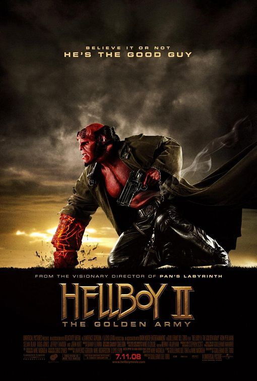 Hellboy II: The Golden Army (2008) - Directed by: Guillermo Del ToroStarring: Ron Perlman, Selma Blair, John Alexander, Seth MacFarlane, Anna Walton, Jeffrey Tambor, Luke Goss, John HurtRated: PG-13 for Sequences of Sci-Fi Action and Violence, and Some LanguageRunning Time: 2 hTMM Score: 4 stars out of 5STRENGTHS: Directing, Characters, Writing, Production Design, Expanded WorldWEAKNESSES: Some Coincidental Moments