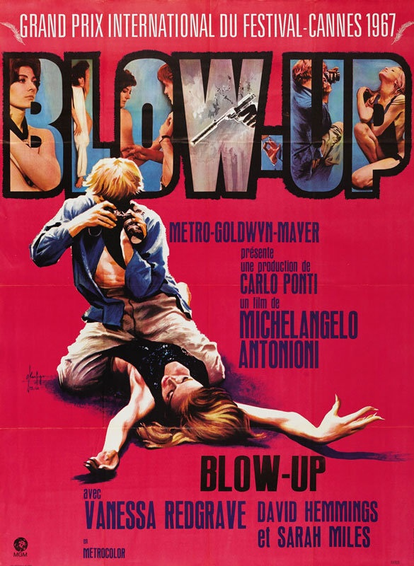 Blow-Up (1966) - Directed By: Michelangelo AntonioniStarring: David Hemmings, Vanessa RedgraveRated: NRRun Time: 1h 51mTMM Score: 3 StarsStrengths: Visual Storytelling, ThemesWeakness: Character and Emotional Connections
