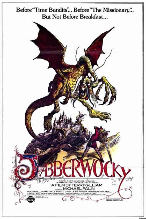 Jabberwocky (1977) - Directed By: Terry GilliamStarring: Michael Palin, Harry H. Corbitt, John Le MesurierRated: PGRun Time: 1h 45mTMM Score: 3 StarsStrengths: Directorial Voice, HumorWeakness: Meandering Story