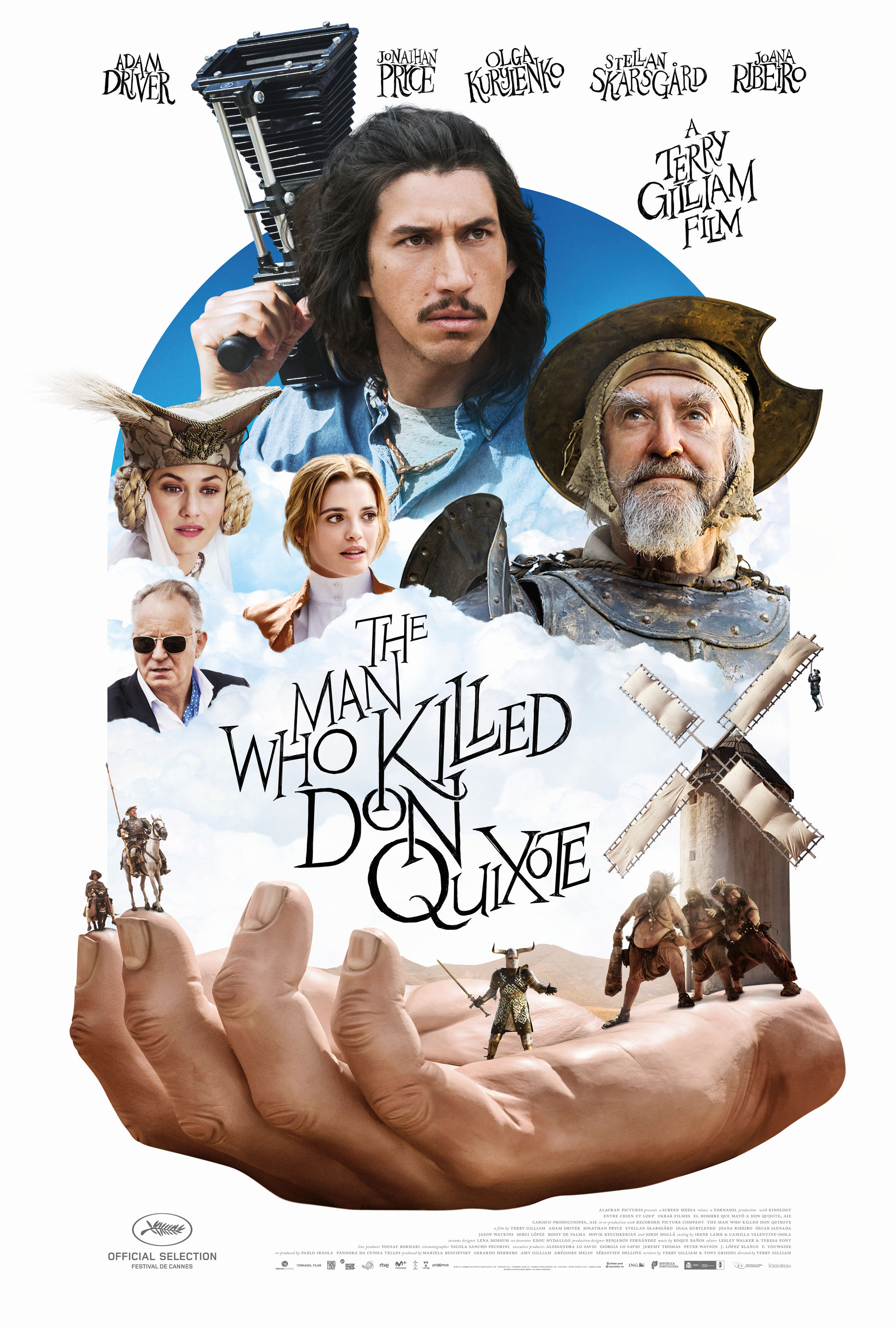 The Man Who Killed Don Quixote (2018) - Directed By: Terry GilliamStarring: Adam Driver, Jonathon Pryce, Joana Ribeiro, Stellan Skarsgard, Olga KurylenkoRated: RRun Time: 2h 12mTMM Score: 5 StarsStrengths: Acting, Production Design, Grand ConceptWeakness: Length