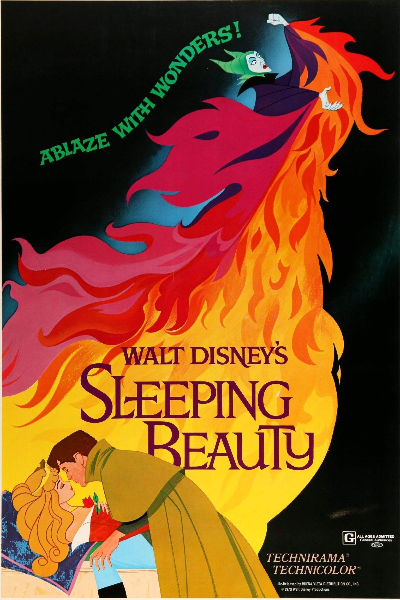 Sleeping Beauty (1959) - Directed By: Clyde GeronimiStarring: Mary Costa, Bill Shirley, Eleanor AudleyRated: GRun Time: 1h 15mTMM Score: 4Strengths: Gorgeous AnimationWeakness: Slow, Uneven Tone