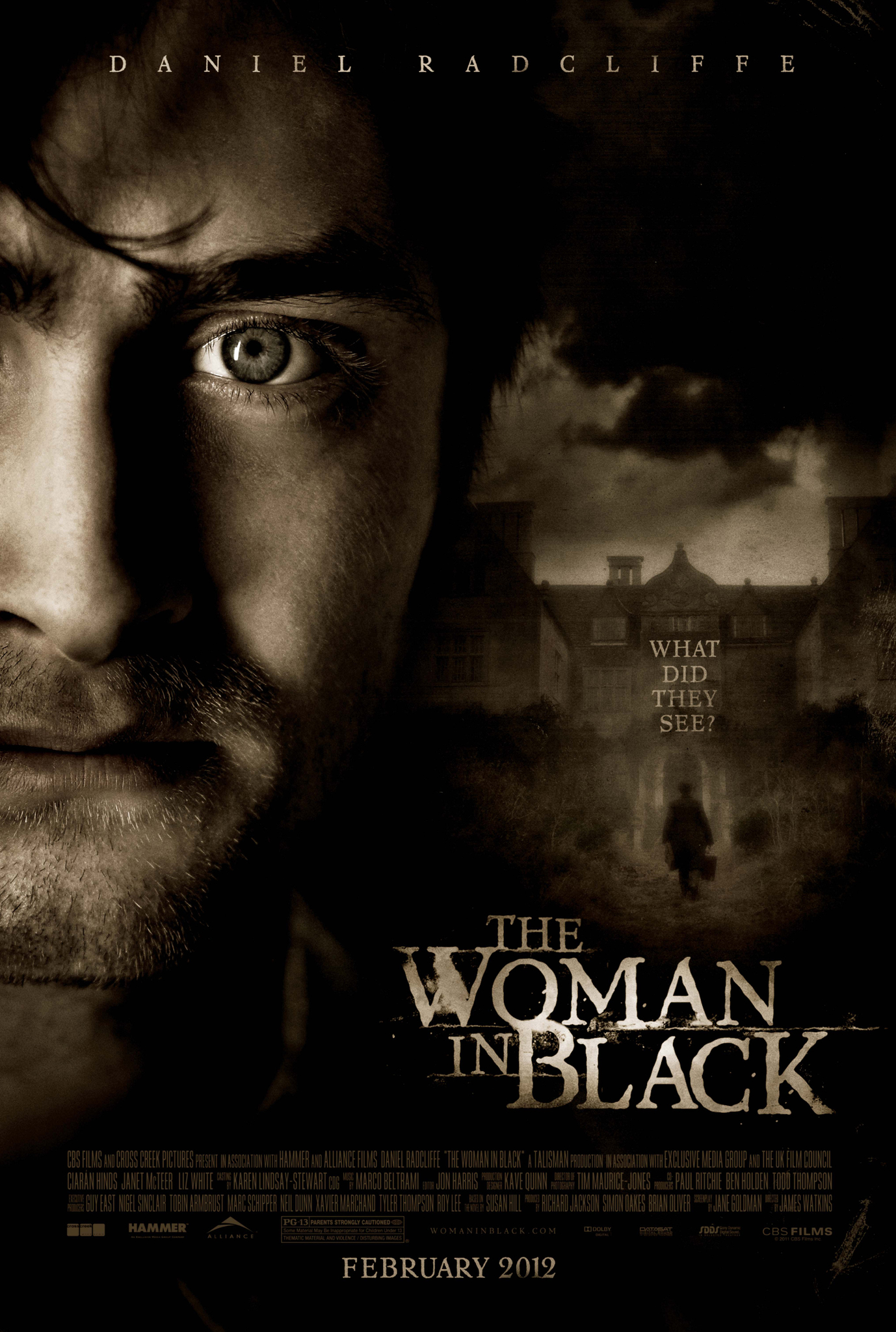 The Woman in Black (2012) - Directed by: James WatkinsStarring:Daniel Radcliffe, Janet McTeer, Ciaran HindsRated: PG-13 for Thematic Material and Violence/Disturbing ImagesRunning Time: 1 h 35 mTMM Score: 3.5 stars out of 5STRENGTHS: Story, Production Design, Pacing, Atmosphere, EndingWEAKNESSES: Some Acting, Lack of Real Scares, Too Many Jump Scares