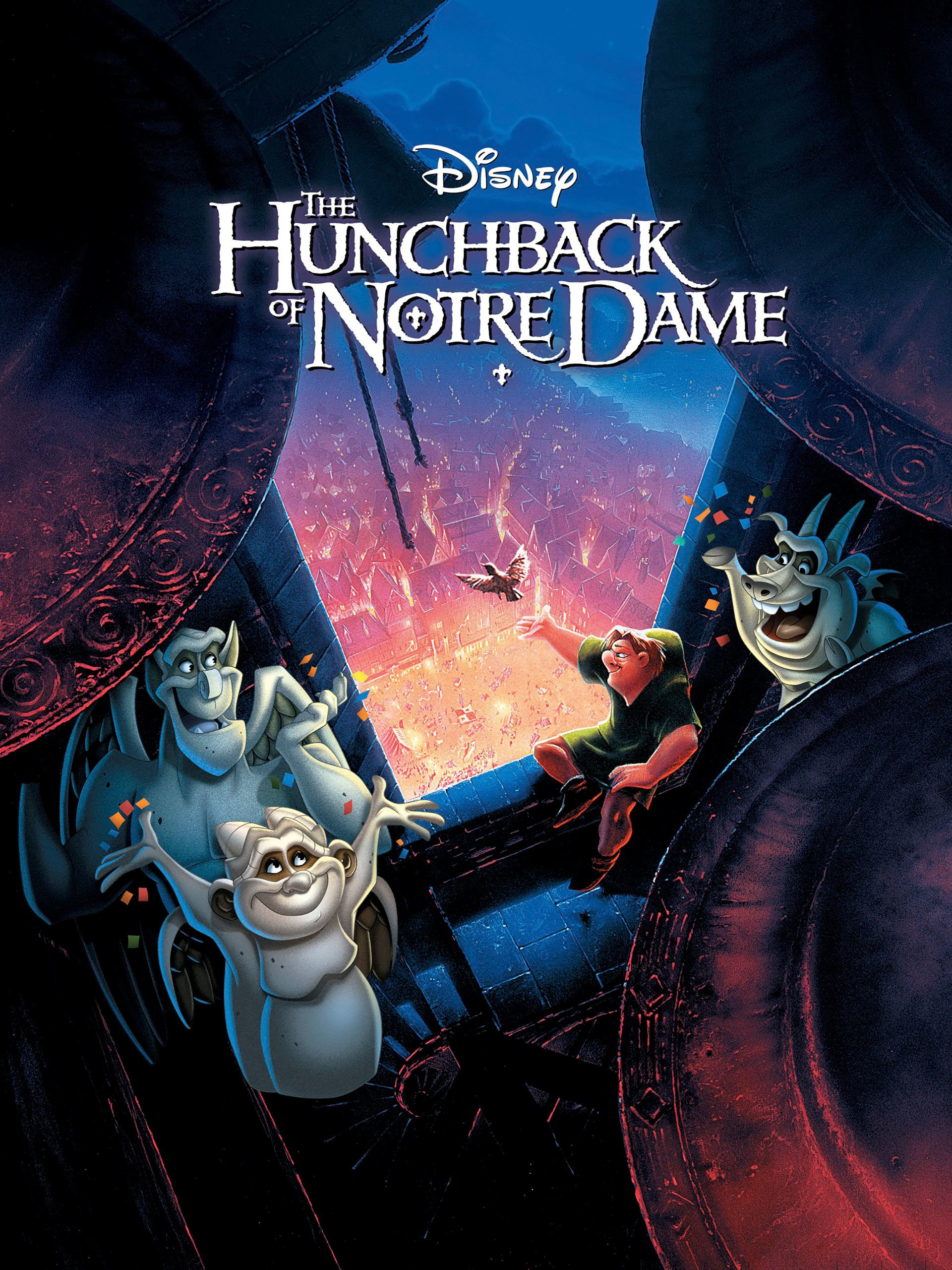 The Hunchback of Notre Dame (1996) - Directed by: Gary Trousdale, Kirk WiseStarring: Tom Hulce, Demi Moore, Tony JayRated: GRunning Time: 1h 35mTMM Score: 4.5 StarsSTRENGTHS: Dark Setting, Beautiful Animation, Good Message, Great MusicWEAKNESSES: Overly Silly Characters, Some Strange Writing Choices