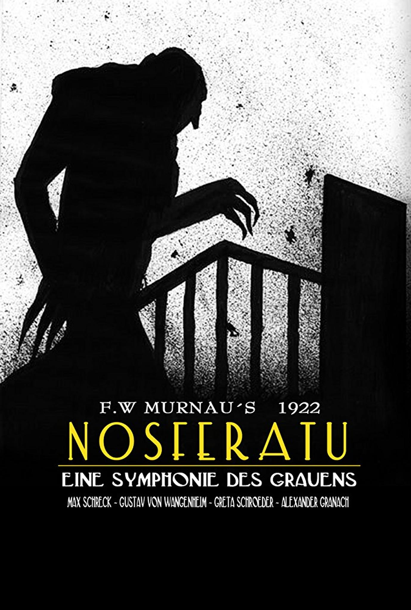 Nosferatu (1922) - Directed by: F.W. MurnauStarring: Max Schreck, Gustav von Wangenheim, Greta Schroder, Alexander GranachRated: NR (Suggested PG for Some Scary Images)Running Time: 1 h 34 mTMM Score: 4.5 stars out of 5STRENGTHS: Max Schreck, Cinematography, Direction, ActingWEAKNESSES: Pacing